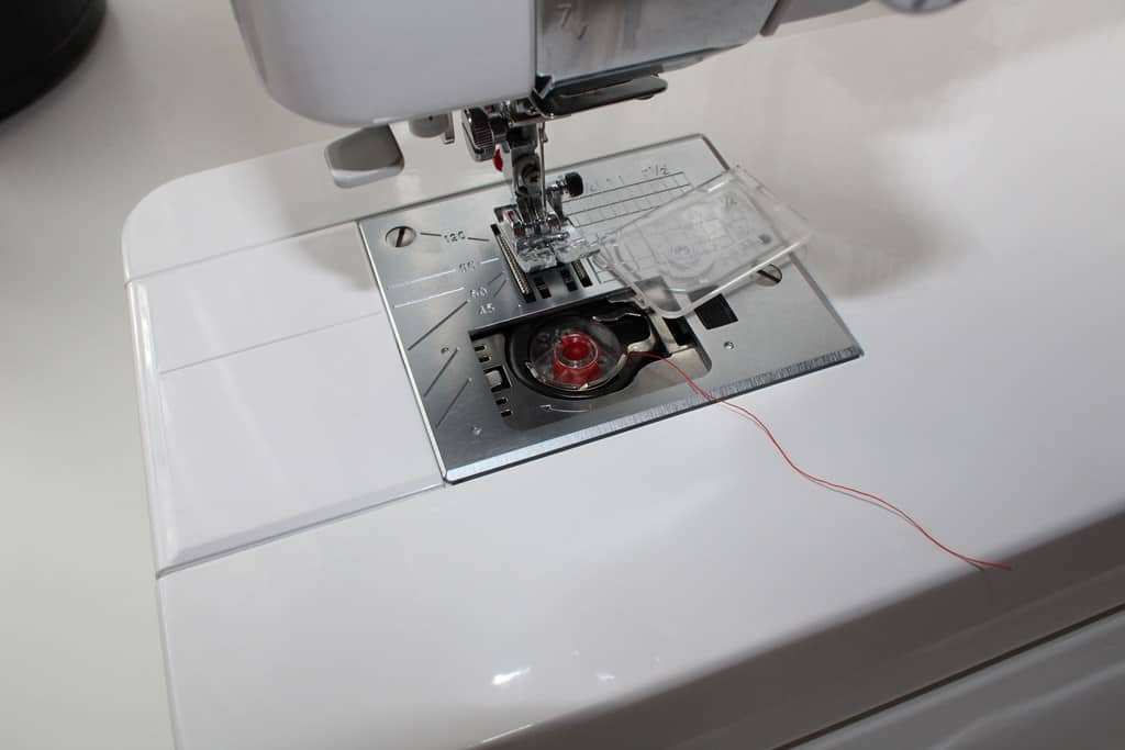 In most modern machines bobbins are just put under the needle plate right in the shuttle without any case.