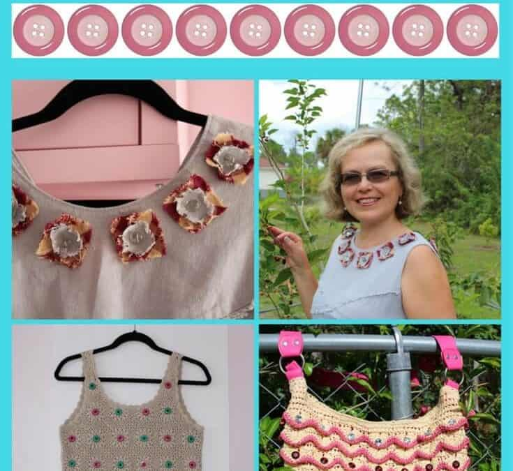 Easy sewing projects with buttons