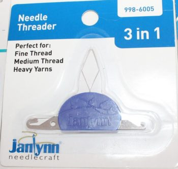 A needle threader is a must have tool if your eyesight is less than perfect