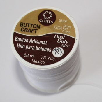 There are even special button sewing threads you can buy in stores