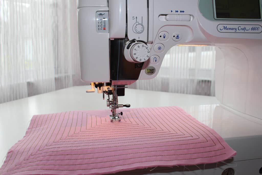 Machines make sewing fast and easy but learning to use them will take some time.