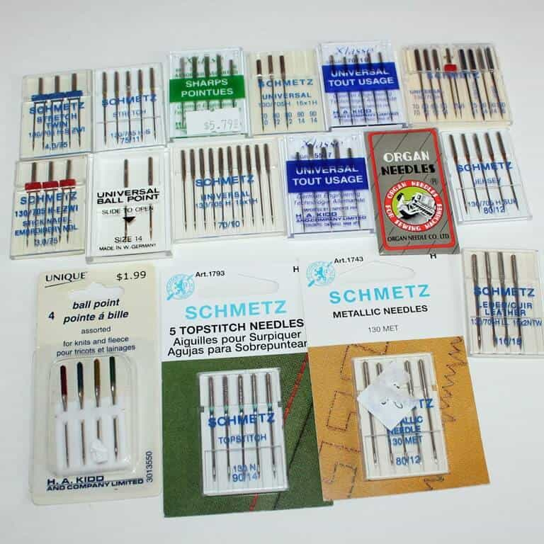 There is great variety of needles for sewing machines