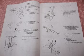 The manual for my sewing machine has very detailed instructions about threading the machine.