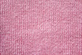 Knitted fabric made of one continuous thread being looped back and forth.
