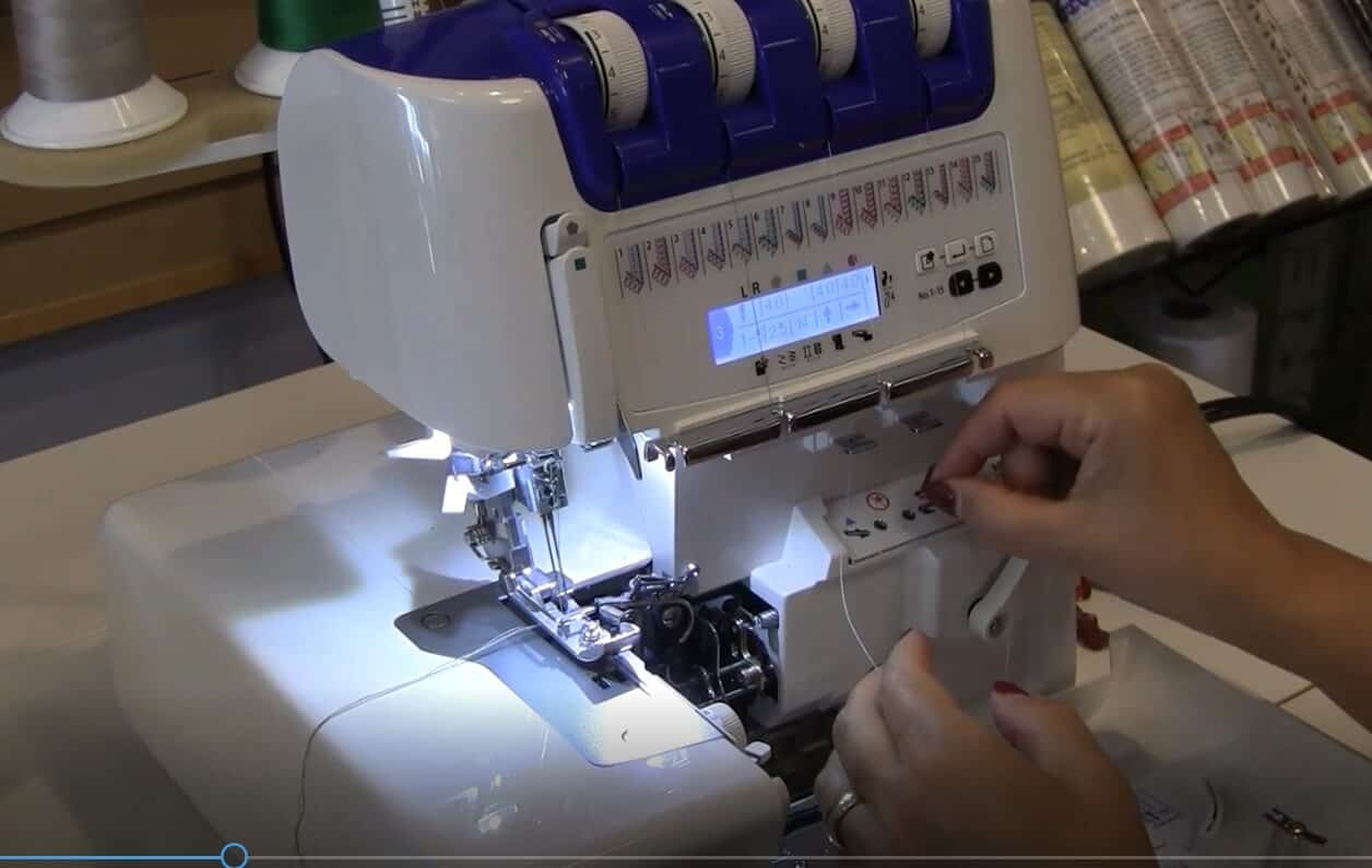 Review Of Juki Serger Mo 2000 Qvp Here We Sew Again Sewing Machine Threading Diagram Pinterest The Has A Led Light So Area Is Brightly Illuminated Energy Efficient And Eco Friendly Will Not Heat Up Even After