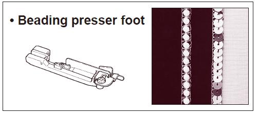 Beading presser foot