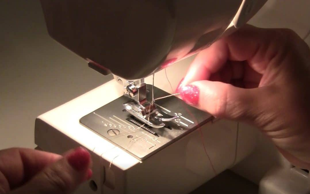 How to sew sheer fabric using only a bobbin thread for stitching