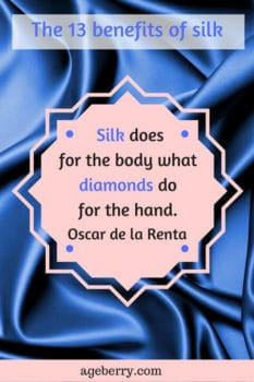 Silk does for the body what diamonds do for the hand