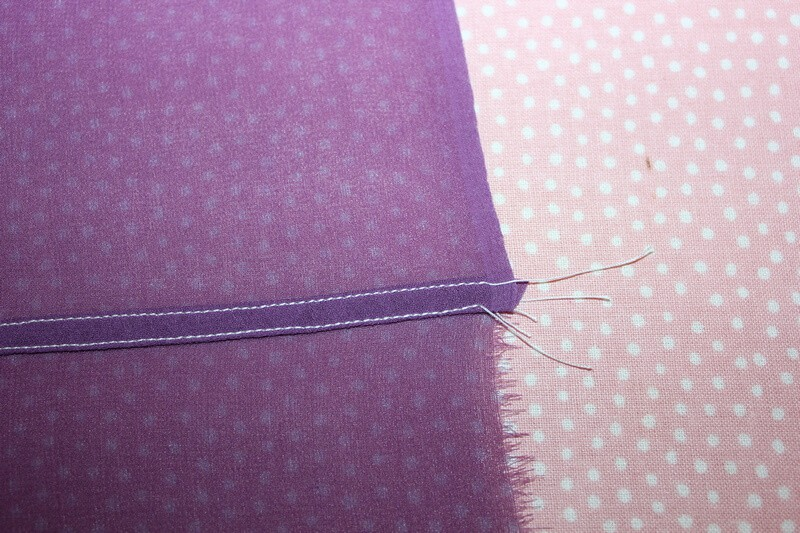 How to sew a flat felled seam on silk fabric (the easy way)