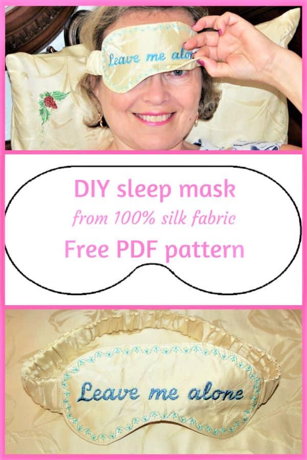 DIY sleep mask from silk fabric