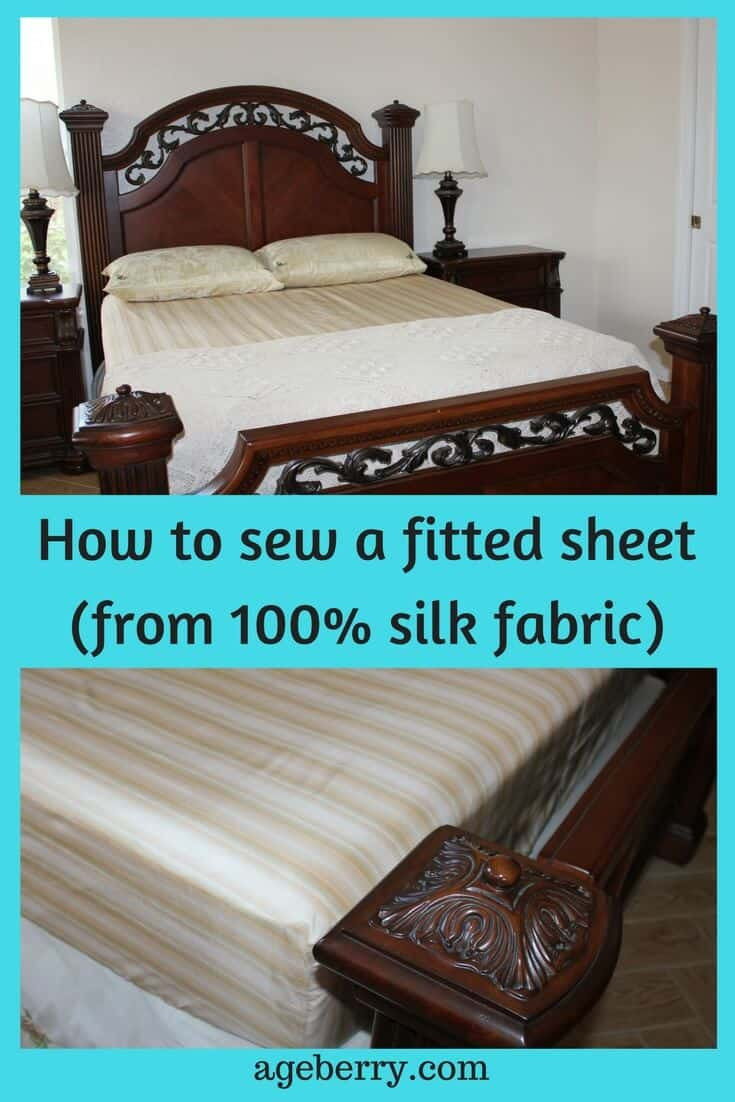 DIY fitted sheet, fitted sheet tutorial, pure silk fabric, natural silk fabric, easy sewing projects for beginners, easy things to sew at home, sew for home, sewing projects for the home, best sewing idea, easy projects to sew at home, things to sew for home, #sewingproject, #sewingtutorial, #diy, #easysewing.