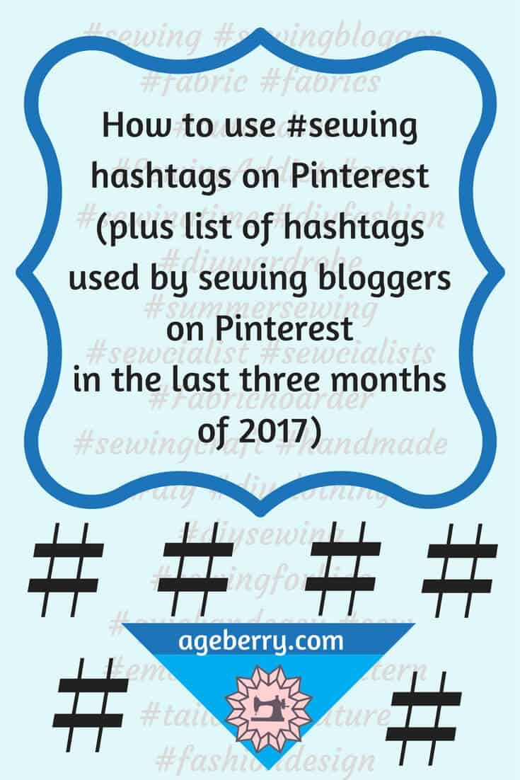 Sewing hashtags on Pinterest, how to use hashtags on Pinterest