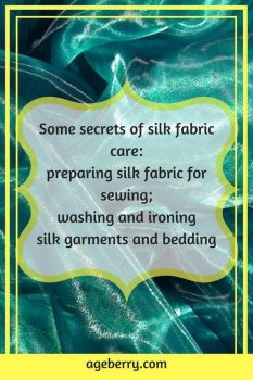 How to wash silk, how to iron silk, pre-washing silk fabric, how to pre-wash silk fabric, natural silk fabric,how to hand wash silk, #sewing #sewingtutorial #sewingtips #ageberry