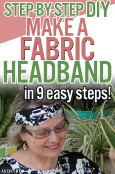 How to sew a simple headband DIY
