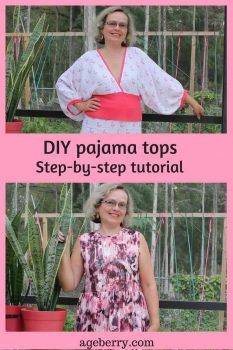 DIY pajama tops, how to make pajamas, easy sewing projects, free sewing patterns, top pattern