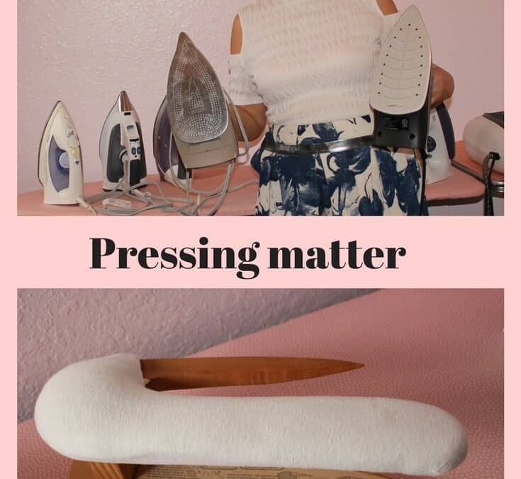 Pressing tools I use for sewing