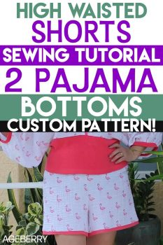 sewing shorts - step-by-step tutorial