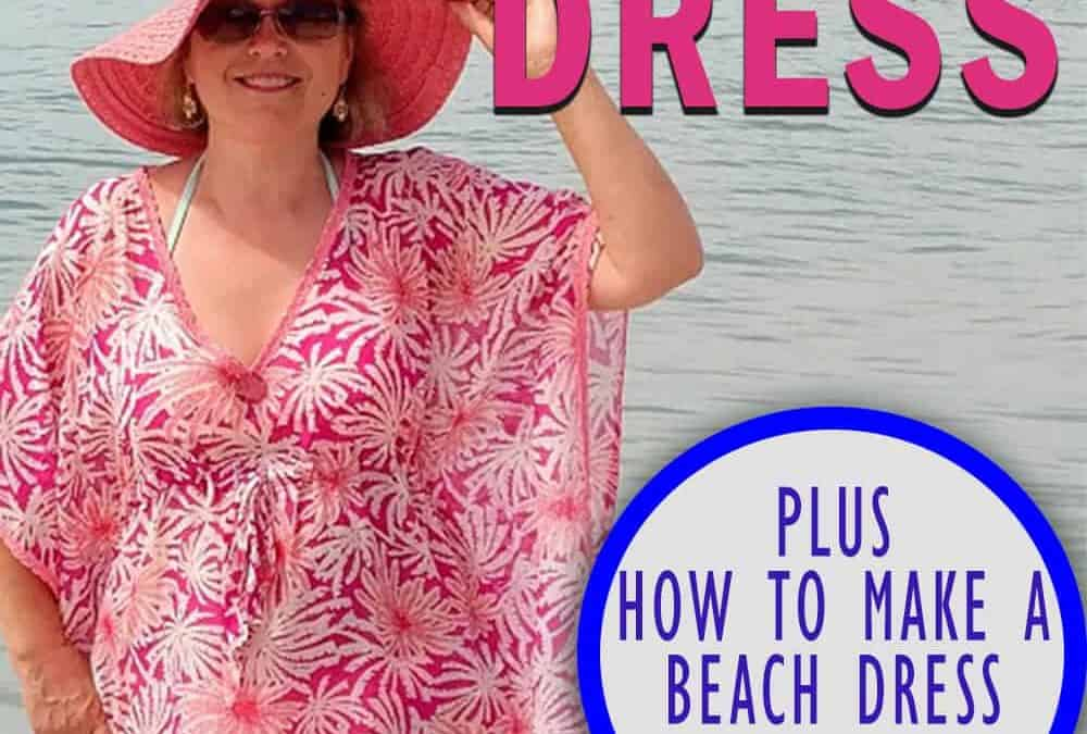 Free sewing patterns: how to make a beach dress