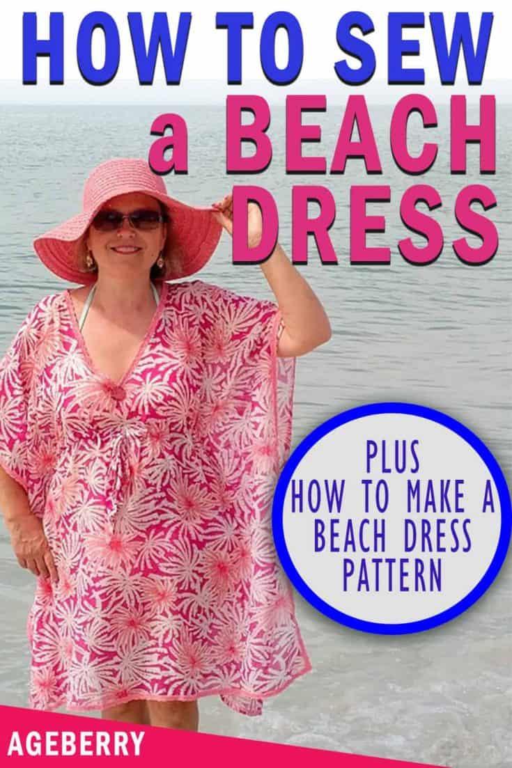 beach dress DIY plus sewing pattern