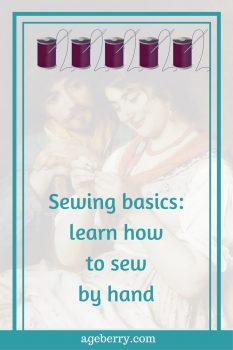 Learning to sew by hand, learning how to sew by hand, learning to hand sew, types of hand sewing stitches, hand sewing, running stitch, backstitch, invisible stitch, overcast stitch, blanket stitch,online sewing tutorials