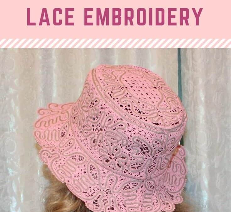 How to make free standing lace embroidery