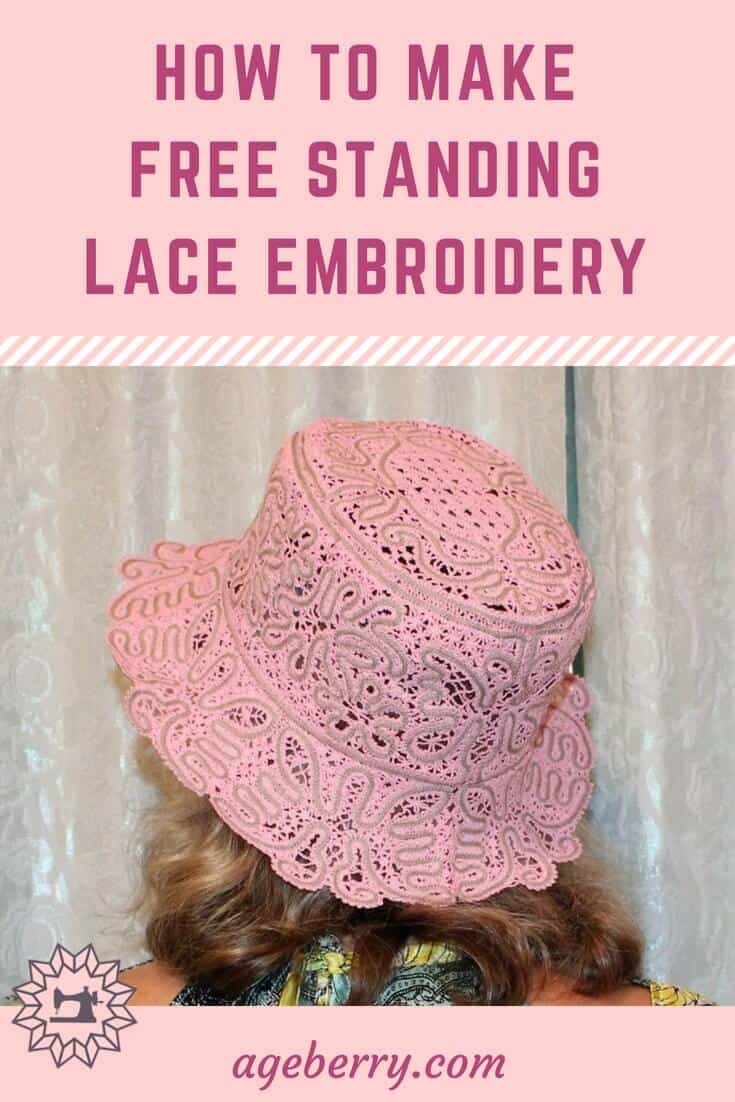 This is a tutorial on how to make free standing lace embroidery with a home embroidery machine. #sewing #sewingproject #sewingtutorial #sewingtip