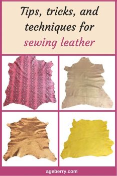 This is the second part of my tutorial on sewing leather. I am going to show you some leather stitching techniques, how to prepare and use patterns for sewing leather on a home sewing machine and what closures to use for leather garments. #sewing #sewingtutorial #sewingtip