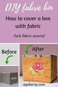 Create a fabric storage bin with this easy sewing tutorial