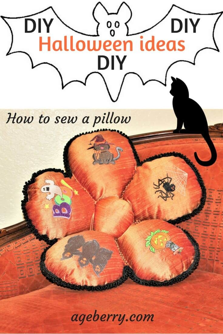 This is a sewing tutorial on how to sew a pillow for Halloween decoration #Halloween