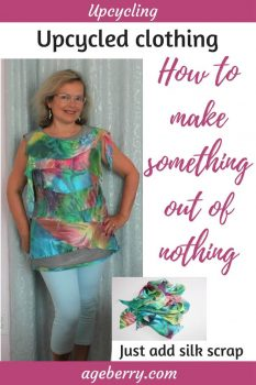 This is a video tutorial on how to upcycle clothing.