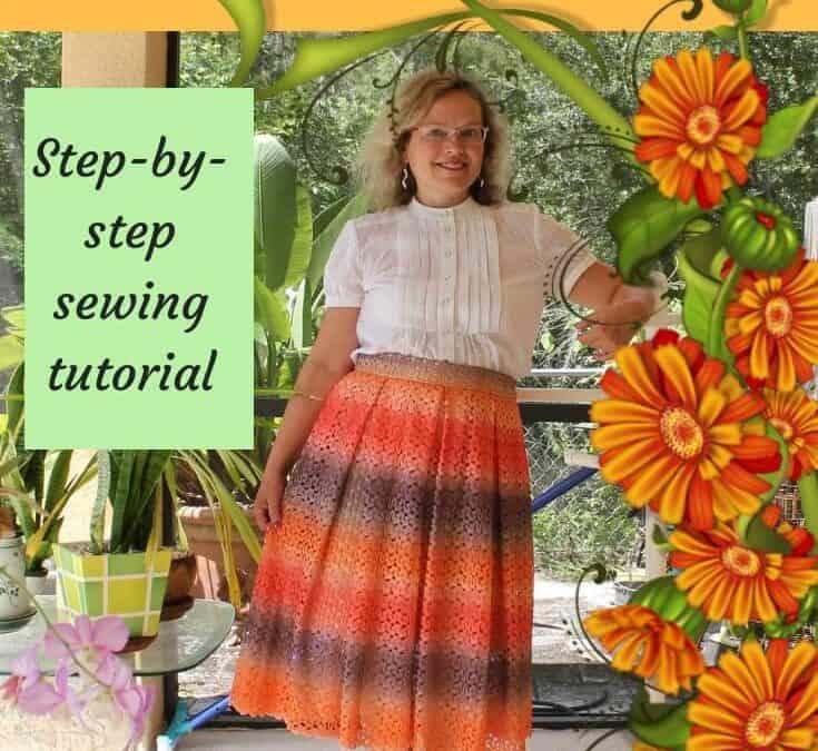How to make a pleated skirt: DIY box pleated midi skirt