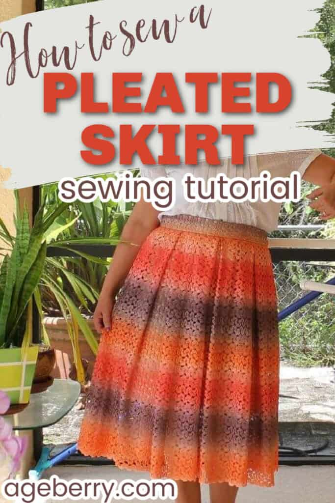 How to sew a pleated skirt