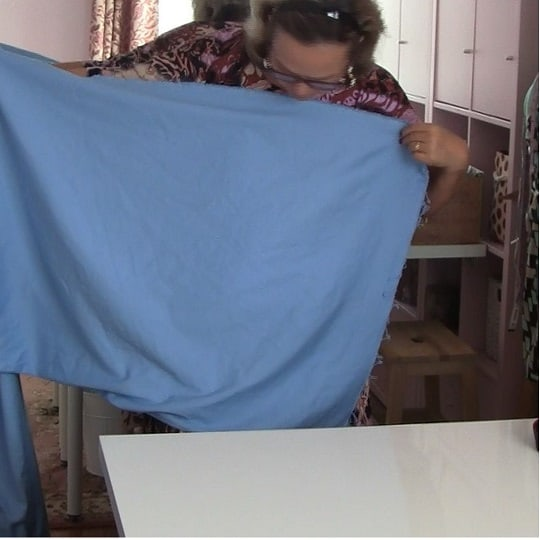 cut fabric straight