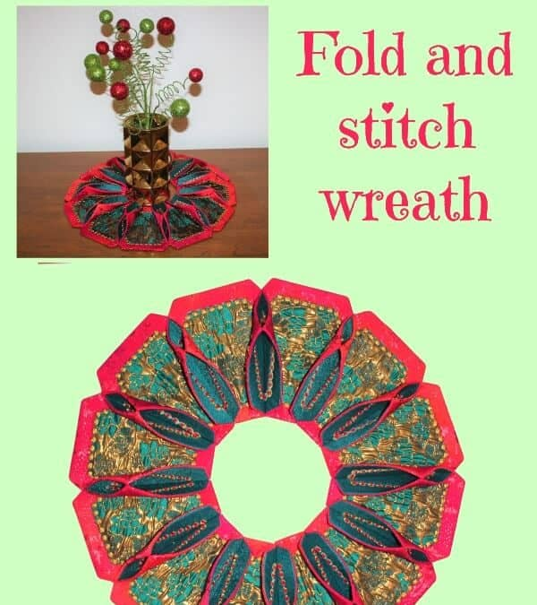First time quilting: how to make a wreath with fabric or a round table topper