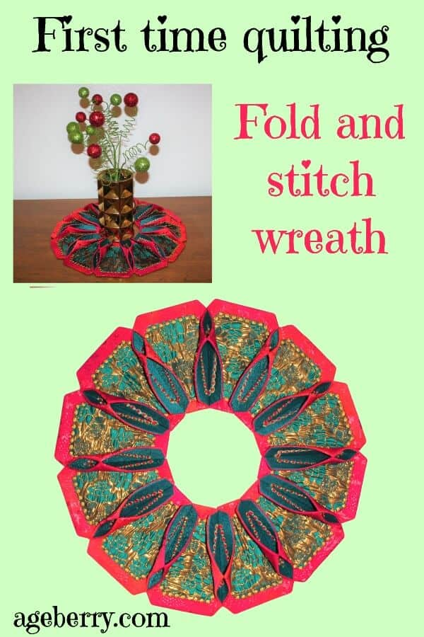 first time quilting project fold'nstitch wreath