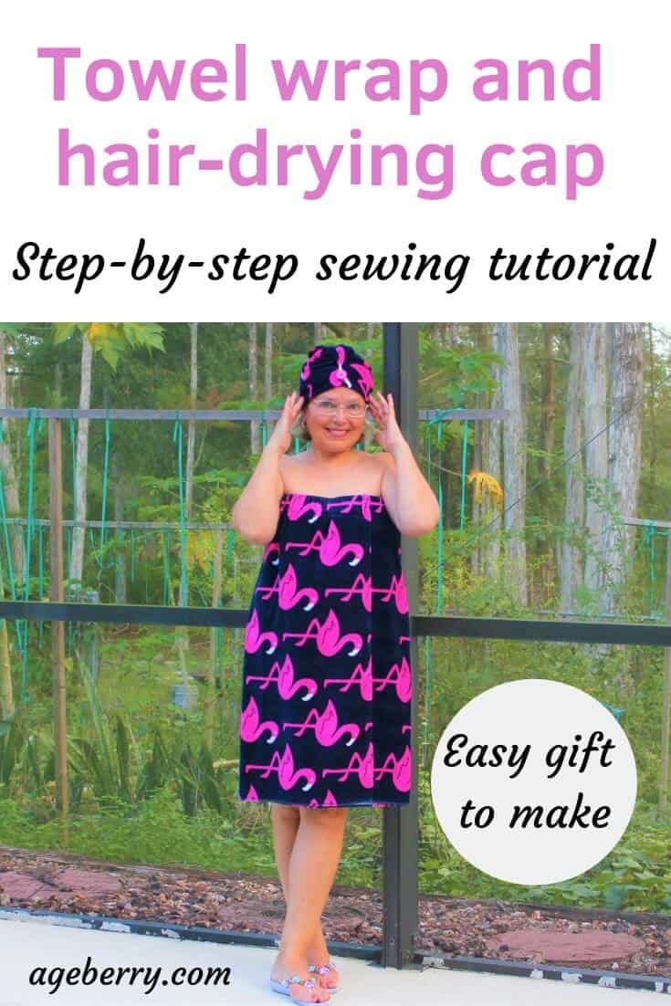 15f0c9bc2c How to sew a bathrobe and a shower cap from terry towels - Ageberry ...