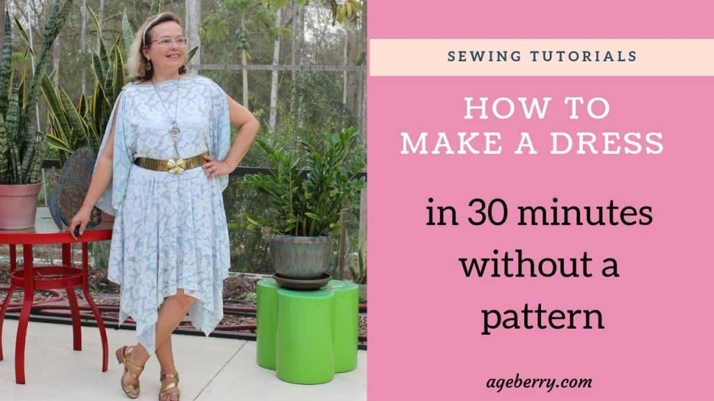 My sewing tutorial on making a circle skirt dress