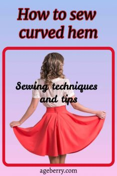 how to sew curved hem pin for Pinterest