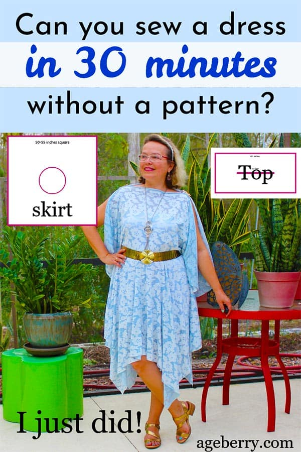 sewing tutorial on how to sew a dress without a pattern