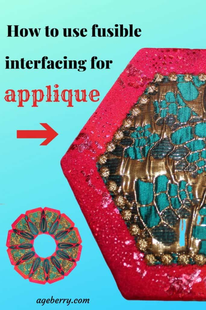 In this fusible web applique tutorial I am showing how to use fusible interfacing for applique, what is the best fusible web for applique, how to machine applique with fusible web, what is paper backed fusible web for applique and how to use home cutting machine for cutting appliques