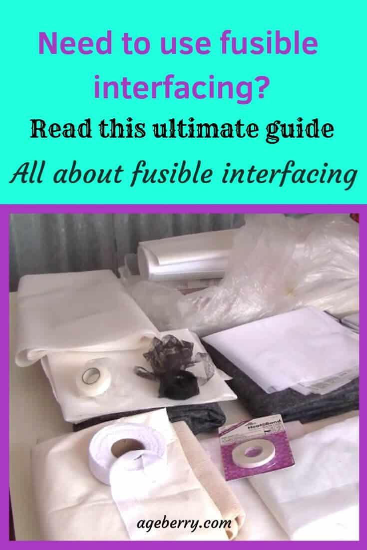 Heavy Medium Light Iron On Fusable Interfacing-Black /& white INTERFACING