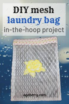 DIY mesh laundry bag in the hoop