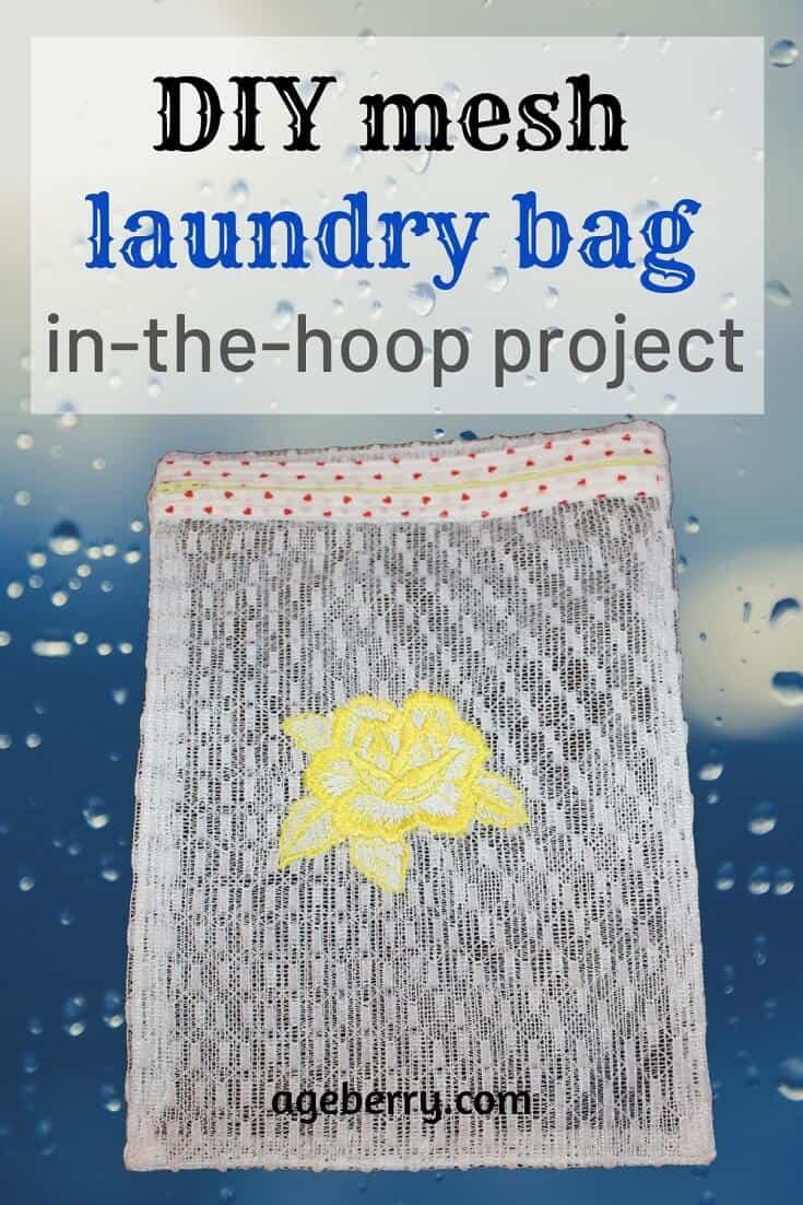 DIY mesh laundry bag in the hoop
