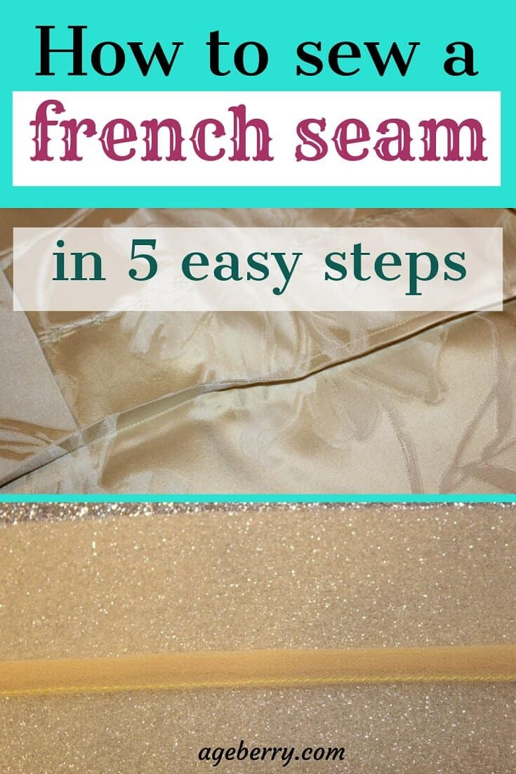 how to sew a french seam in 5 easy steps pin for Pinterest