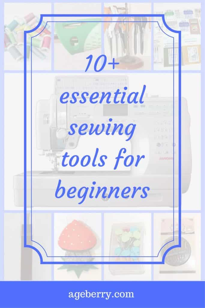 10+ essential sewing tools for beginners pin for Pinterest