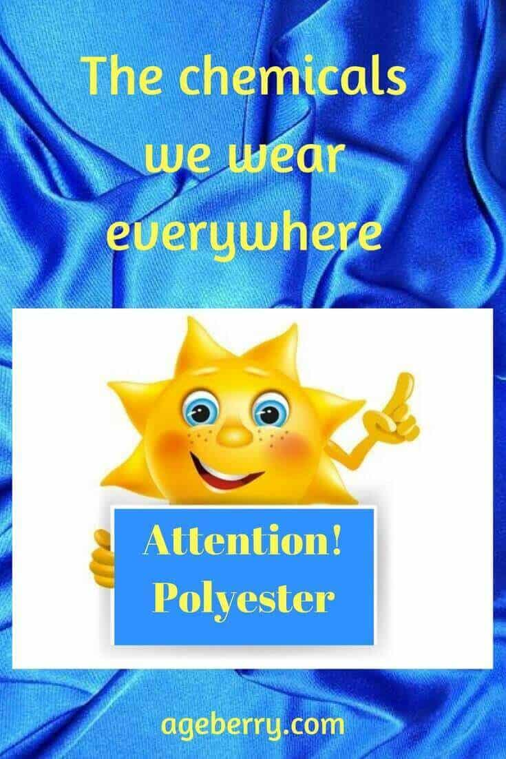 is polyester bad for you? pin for Pinterest