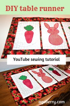 How to make a table runner pin for Pinterest