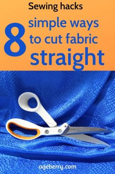 How to cut fabric straight pin for Pinterest