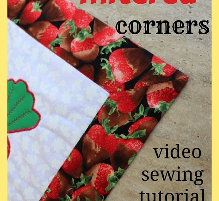 Sewing hacks: how to sew mitered corners / YouTube sewing tutorial