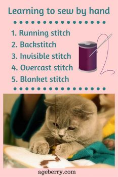 learn how to sew by hand pin for pinterest